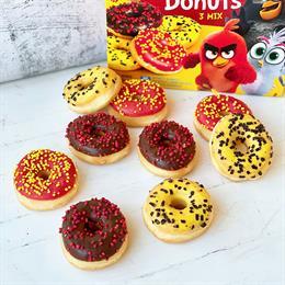 Купить Пончик мини ассорти из трех видов Angry Birds с доставкой в Москве и СПб | cheese-cake.ru