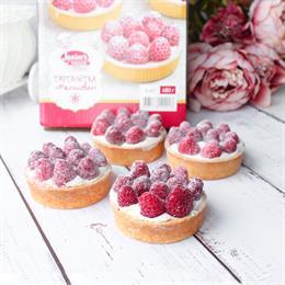 Тарталетка малиновая 4 порции   cheese-cake.ru